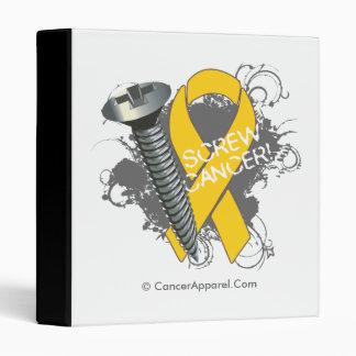 Screw Cancer - Grunge Childhood Cancer 3 Ring Binders