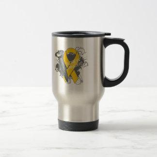 Screw Cancer - Grunge Childhood Cancer Coffee Mugs