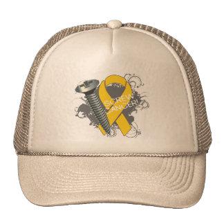Screw Cancer - Grunge Childhood Cancer Trucker Hats