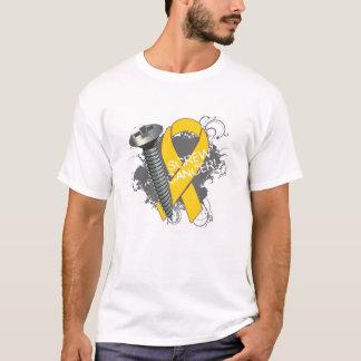 Screw Cancer - Grunge Childhood Cancer T-Shirt