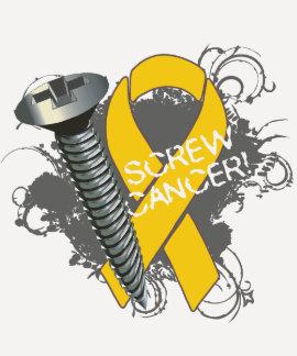 Screw Cancer - Grunge Childhood Cancer Tees