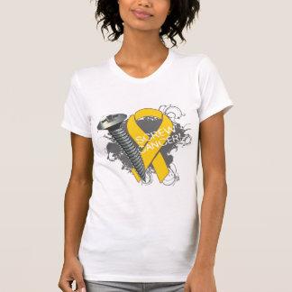 Screw Cancer - Grunge Childhood Cancer Tshirt