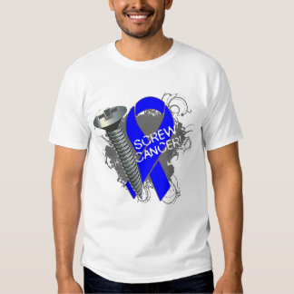 Screw Cancer - Grunge Colon Cancer Tee Shirts