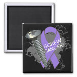 Screw Cancer - Grunge Hodgkin's Lymphoma Magnet