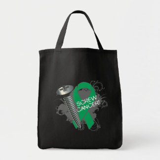 Screw Cancer - Grunge Liver Cancer Tote Bags