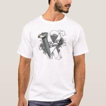 Screw Cancer - Grunge Lung Cancer T-Shirt