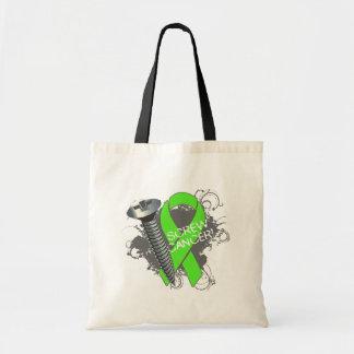 Screw Cancer - Grunge Non-Hodgkins Lymphoma Budget Tote Bag