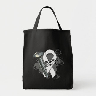 Screw Cancer - Grunge Retinoblastoma Grocery Tote Bag