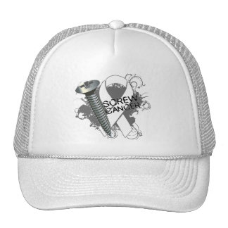 Screw Cancer - Grunge Retinoblastoma Trucker Hat