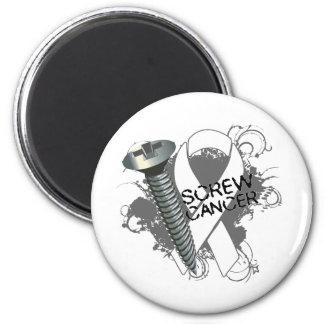 Screw Cancer - Grunge Retinoblastoma 2 Inch Round Magnet
