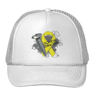 Screw Cancer - Grunge Sarcoma Trucker Hat