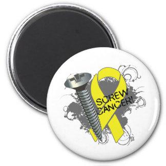 Screw Cancer - Grunge Sarcoma 2 Inch Round Magnet