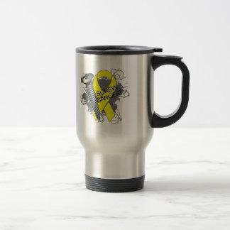 Screw Cancer - Grunge Sarcoma 15 Oz Stainless Steel Travel Mug