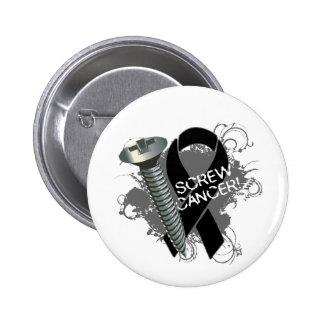 Screw Cancer - Grunge Skin Cancer Button