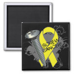 Screw Cancer - Grunge - Testicular Cancer Refrigerator Magnets
