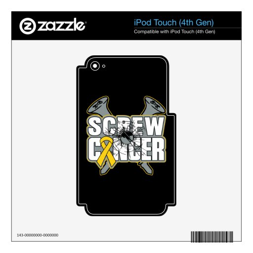 Screw Childhood Cancer iPod Touch 4G Skin
