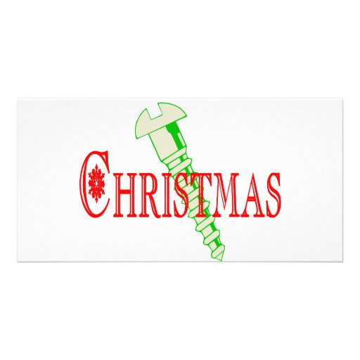 Screw Christmas Personalized Photo Card