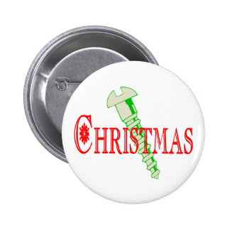 Screw Christmas Pinback Button