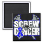 Screw Colon Cancer Fridge Magnets