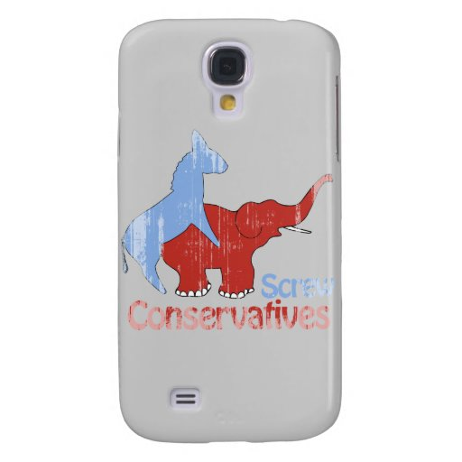 Screw Conservatives Faded Galaxy S4 Cases