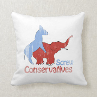 Screw Conservatives Faded.png Pillow