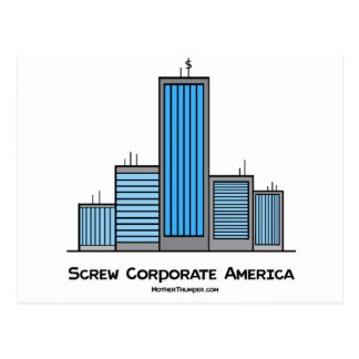 Screw Corporate America Postcard