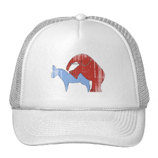 SCREW DEMOCRATS Faded.png Trucker Hats