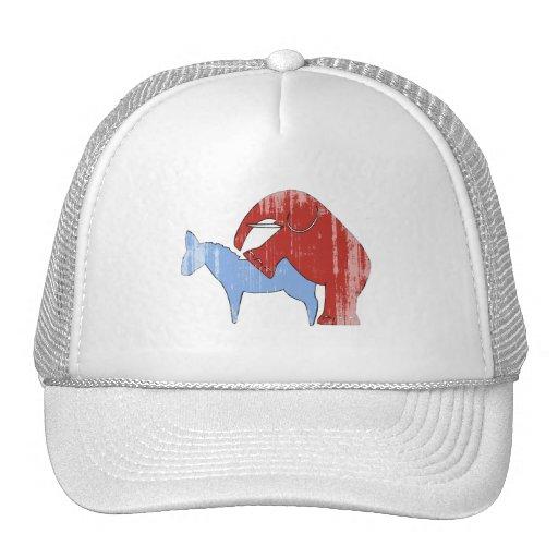 SCREW DEMOCRATS Faded.png Trucker Hat