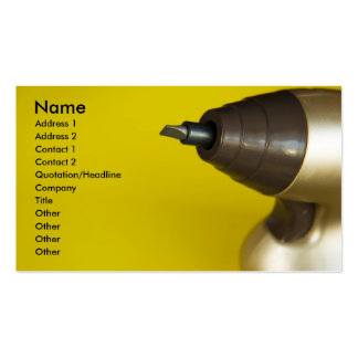 screw driver. Double-Sided standard business cards (Pack of 100)