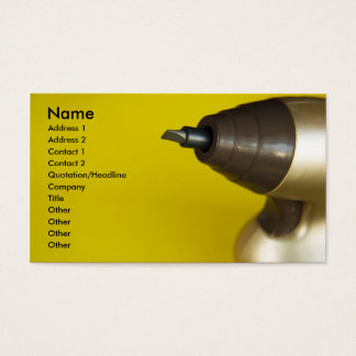 screw driver. business card