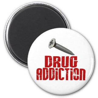 Screw Drug Addiction 2 Inch Round Magnet
