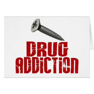 Screw Drug Addiction Greeting Card