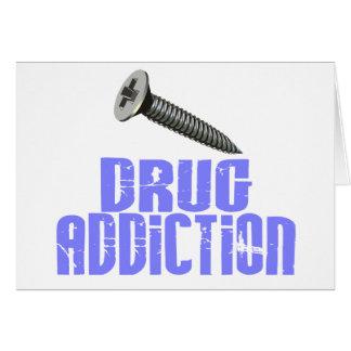 Screw Drug Addiction Light Blue Greeting Card