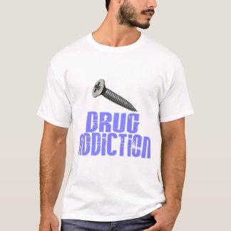 Screw Drug Addiction Light Blue T-Shirt
