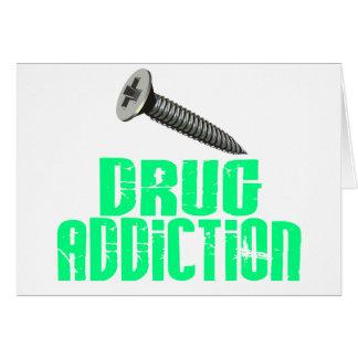 Screw Drug Addiction Light Green Greeting Card
