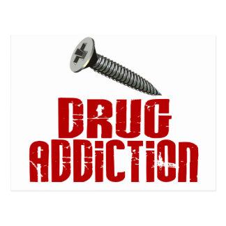 Screw Drug Addiction Postcard