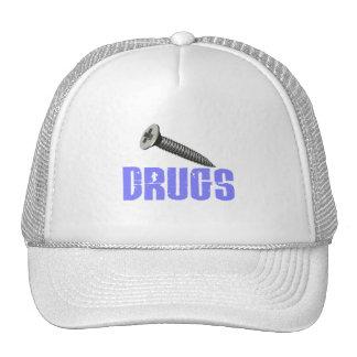 Screw Drugs Light Blue Hat