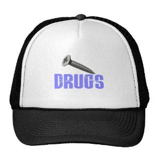 Screw Drugs Light Blue Mesh Hat