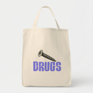 Screw Drugs Light Blue Tote Bag