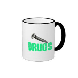 Screw Drugs Light Green Coffee Mug