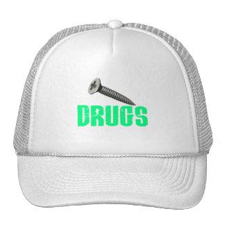 Screw Drugs Light Green Mesh Hats
