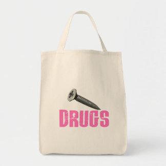Screw Drugs Pink Canvas Bag
