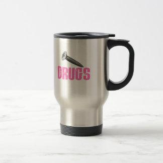 Screw Drugs Pink Coffee Mug