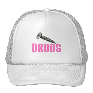 Screw Drugs Pink Mesh Hats