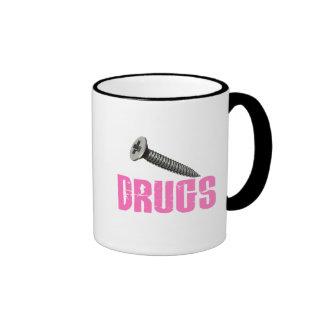 Screw Drugs Pink Mug