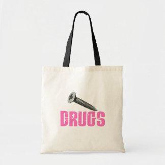 Screw Drugs Pink Tote Bag