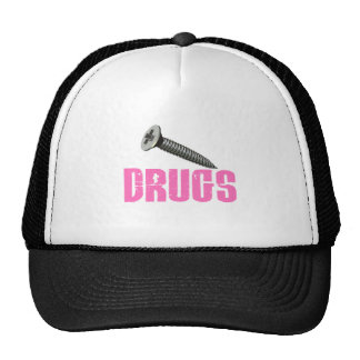 Screw Drugs Pink Trucker Hat