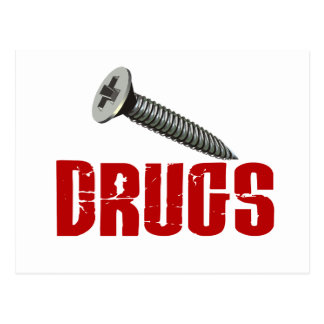 Screw Drugs Postcard