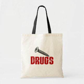 Screw Drugs Tote Bags