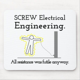Screw Electrical Engineering Mouse Pad